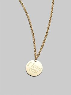 Roberto Coin - 18K Yellow Gold Love Plus Necklace