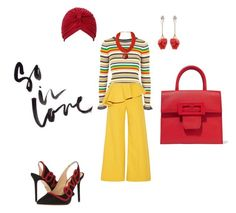 """""""Untitled #1109"""" by steflsamour on Polyvore featuring Topshop, Rosie Assoulin, Venna, Maison Margiela, Urbiana and Charlotte Olympia"""