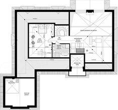 Projekt domu Rezydencja Parkowa 3 259,28 m2 - koszt budowy - EXTRADOM Construction, Floor Plans, Flooring, Architecture, House, American Houses, Facades, Flats, Building