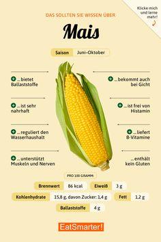 Das solltest du über Mais wissen | eatsmarter.de #ernährung #infografik #mais