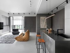 Modern and Elegant Design of an Open-Plan Apartment Located in Hsinchu City, Taiwan