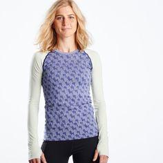 Seamless Lightning Bolt Print Long Sleeve Top | Oiselle Running Apparel for Women | Oiselle Running Apparel for Women