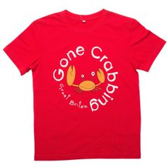 Gone Crabbing Great Britain T-shirt - Red