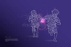 The particles, geometric art, line and dot of Kids running. Abstract vector illu #Sponsored , #ad, #paid, #art, #particles, #dot, #line Watercolor Paper Texture, Kids Running, Geometric Art, Dots, Concept, Graphic Design, Abstract, Illustration, Frame
