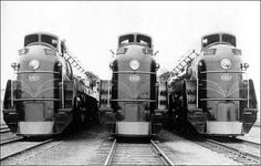 """The 1930s was a decade known for """"streamlining,"""" or what we now refer to as #aerodynamics. Until then, steam engines were purely functional in design, with little or no attention paid to the effects of aerodynamic drag. Eventually #locomotive builders began enveloping their giant machines in bodywork that not only smoothed the flow of air but resulted in handsome #designs that could be used in advertising to attract passengers."""