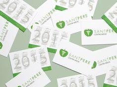 Diseño de las tarjetas de San Pere centro medico