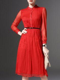 A-Linie+Kleid+mit+Tüll+-+rot+46.56