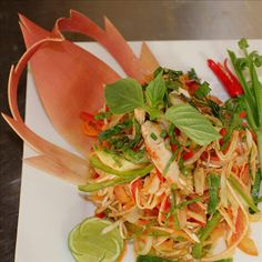 Cambodian Banana Flower Salad