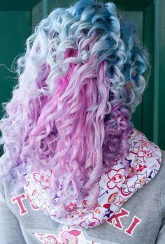 Cabelo Colorido - Rosa/Azul