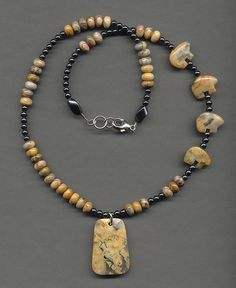 Crazy lace agate and hematite | Flickr - Photo Sharing!