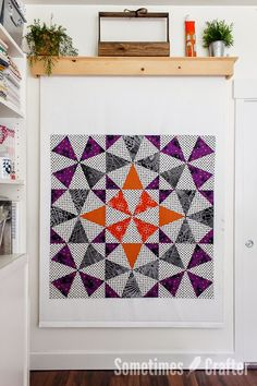 """I rather dig this """"Medallion"""" mini-quilt by Christina Lane of Sometimes Crafter. I could see this being wonderful if done in radiating circles/patterns from the center like a mandala."""