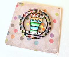 Tarjeta de scrapbooking, tarjeta de cumpleaños DIY-003