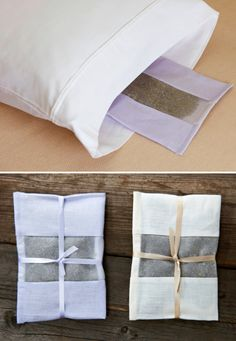 Lavender pillow inserts- Could DIY   maybe just some lavender oil swiped cotton balls in a pouch.
