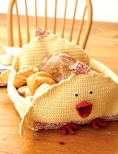 Yarnspirations.com - Lily Chicken Basket - Patterns  | Yarnspirations