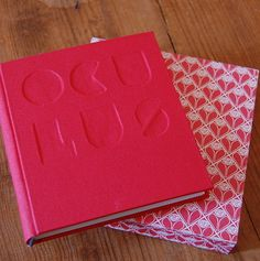 Bookbinding. 'OCULUS' embossed book and slip case form Sarah Diver-Lang