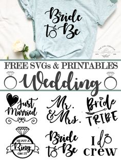 Free Wedding SVGs, Printables and Clipart for Commercial Use for your Cricut, Silhouette and cutting machines. DIY Wedding Signs and Ideas Amsterdam Trip, Free Svg, Wedding Crafts, Wedding Hacks, Diy Wedding Projects, Cricut Wedding, Wedding Ideas With Cricut, Free Wedding Stuff, Make Up Braut