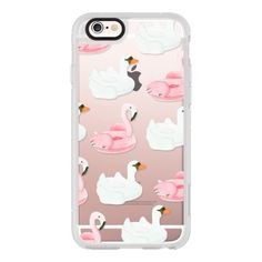 iPhone 6 Plus/6/5/5s/5c Case - Pool Float - Swan & Flamingo ($40) ❤ liked on Polyvore featuring accessories, tech accessories and iphone case