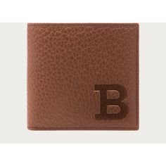 Bally BAFLOR Men´s leather wallet in Tobacco ($350) ❤ liked on Polyvore featuring men's fashion, men's bags and men's wallets