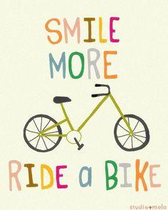 Smile more, ride a #bike