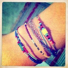 Arm candies by L'Oliphant  www.oliphant-bijoux.fr  #bracelets #beads #colorful