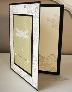 Nature's Nest in a soft and simple card w white embossing powder
