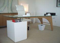 glass desk ideas - Google Search