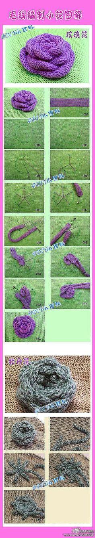 DIY Simple Yarn Rose DIY Simple Yarn Rose