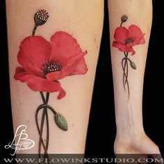 Poppy tattoo by Lainey! Limited availability at Revival Tattoo Studio!