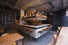 Imli Street restaurant by B3 Designers London Imli Street restaurant by B3 Designers, London. hanging shelving