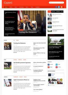 Gazeti Review : WPZoom Best Magazine WordPress Theme