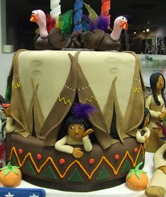 American Indian, Thanksgiving Cake Art