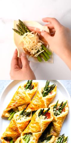 These Prosciutto Asparagus Puff Pastry Bundles are an easy and elegant appetizer or brunch idea! Perfect for Easter, Mother's Day or any other spring brunch! recipes and nutrition and drinks recipes recipes celebration diet recipes Prosciutto Asparagus, Asparagus Appetizer, Appetizer Dinner, Baked Asparagus, Asparagus Meals, Prosciutto Appetizer, Prosciutto Recipes, Bacon Wrapped Asparagus, Grilled Shrimp Recipes
