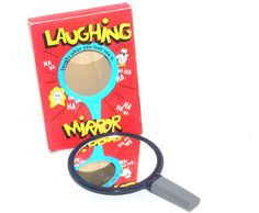 Vintage Laughing Mirror, Gag Novelty Toy, Antique Alchemy