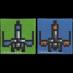 Star Wars X-Wings perler beads by May The Fourth Be With You Party.com