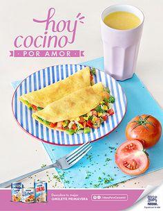 Campaña Ideas para consentir Nestlé, omelette primavera. Fotografía: Esteban Brocos