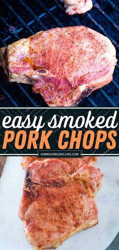 No dry boring chops here with this smoked pork chops recipe! An interesting summer dinner idea, this smoker recipe idea will turn you into a smoked cooking master. Hooray for juicy and tasty chops! Summer Grilling Recipes, Beef Recipes For Dinner, Entree Recipes, Delicious Dinner Recipes, Yummy Recipes, Grilling Ideas, Smoker Recipes, Pork Recipes, Easy Family Meals