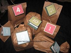 Cute idea for little suprises for your hubby / boyfriend / partner! :) 12 days of Christmas :)
