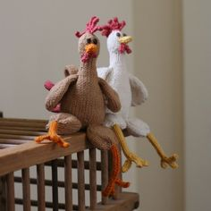 Chicken Chicken Chicken - PDF Knitting Pattern.