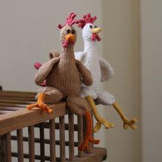 Chicken Chicken Chicken - PDF Knitting Pattern. $5.00, via Etsy.