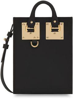 Sophie Hulme Nano Albion Leather Crossbody Bag, Black