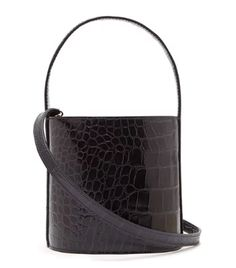 9d6985fd7e2b Staud Bissett Crocodile-Effect Leather Bucket Bag Key Bag, Fashion Labels,  Who What