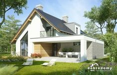 Photo of the project Aristotle – House Design Modern Bungalow Exterior, Modern Bungalow House, Modern Craftsman, Dream House Exterior, Modern House Plans, Small House Plans, Modern House Design, Craftsman Houses, Rural House