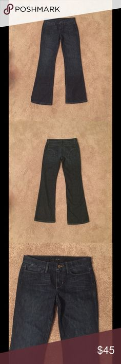 Joe's Jeans Provocateur Boot Cut Jean Dark wash, boot cut, 5-pocket, Camille wash. 90% cotton, 10% elastomultiester. Dry clean recommended. Machine wash cold. Joe's Jeans Jeans Boot Cut