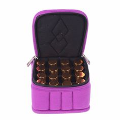 16 Bottles for 5ML, 10ML and 15ML Essential Oils Carrying Case for Traveling