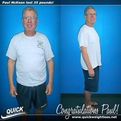 """Congratulations to Paul McKeon from Jupiter, Florida for losing 35 pounds on the Quick Weight Loss Centers program!   """"I liked that the Quick Weight Loss program helped me learn to eat to be healthy. The staff at my center was outstanding! Now that I have reached my goal, I feel ready to take on more healthy goals."""" -Paul.   Read his Quick Weight Loss success story: http://quickweightloss.net/testimonials?id=35.mckeon  #qwlc #weightloss"""
