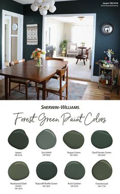 Green Paint Colors, Paint Colors For Home, Room Colors, House Colors, Home Renovation, Home Remodeling, House Color Palettes, Interior Decorating, Interior Design