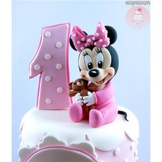 Одноклассники Mini Mouse First Birthday, Minnie Mouse Birthday Cakes, Birthday Cake Girls, Amazing Baby Shower Cakes, Bolo Barbie, Mickey And Minnie Cake, Minnie Mouse Party Decorations, Cake Structure, Peter Rabbit Birthday
