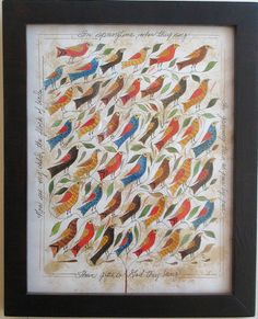 Many Birds -- looks generic  to the pieces  hanging  on my walls.