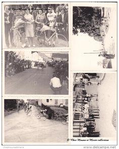 1965 COURS LA VILLE - CYCLISME - PRIX VALENTIN - MARDORE PONT GAUTHIER - RHONE 69 - LOT DE 5 PHOTOS + ARTICLE
