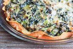 """Kale and Sweet Potato """"Quiche"""" - no crust! All veggies, egg, sweet potato, and cheese. And a little miso!"""